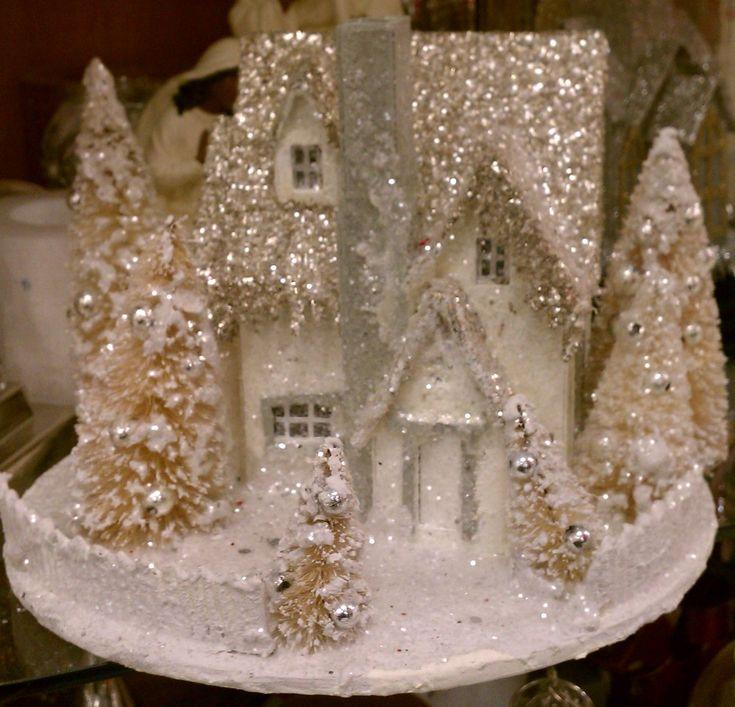 glitter houses christmas village - Google Search