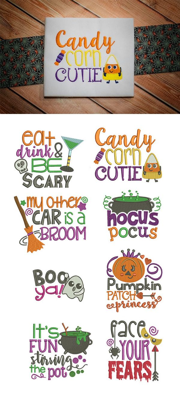These 8 super adorable Halloween Word Art designs are perfect for customizing your next project! Available for instant download at designsbyjuju.com