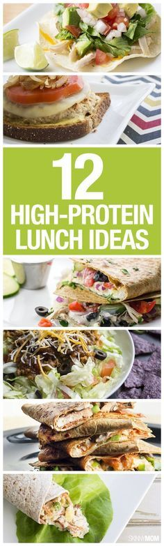 12 High Protein Lunches - Protein is important for keeping you full and focused, so having enough at lunch is essential. You don't want to be hungry again before the end of your workday! #Lunchbox #Protein