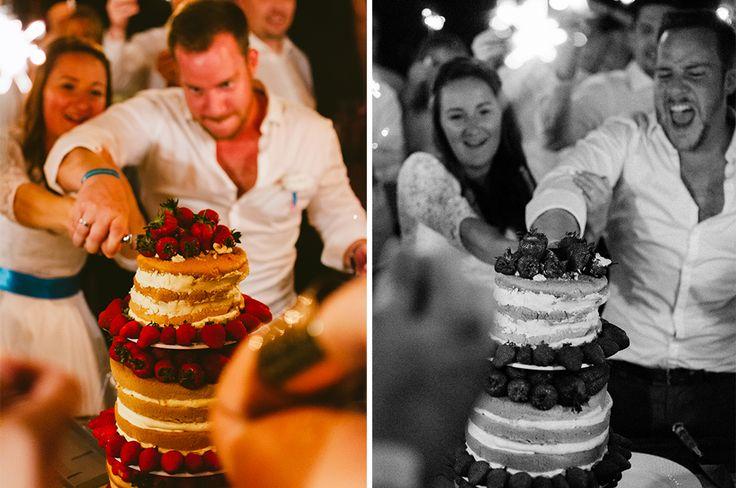 what a fun cake slicing