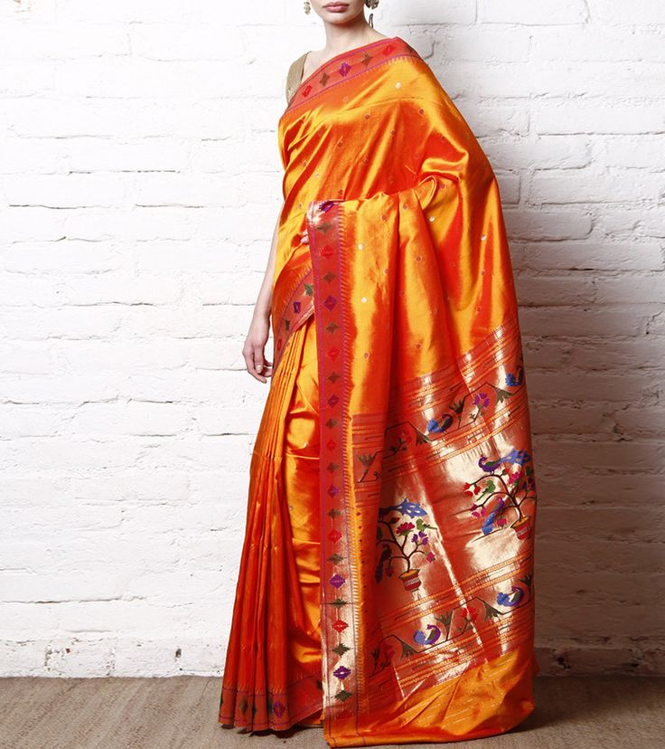 Subah Golden Yellow Pure Silk Paithani Saree | Indian Artizans  #ShopNow #InstaFashion #InstaShop #InstaIndian #IndianArtizans #InstaEthnic #Ethnic #InstaStyle #Fashion #Collection #BuyNow #Garments #EthnicFiesta #OnlineShopping