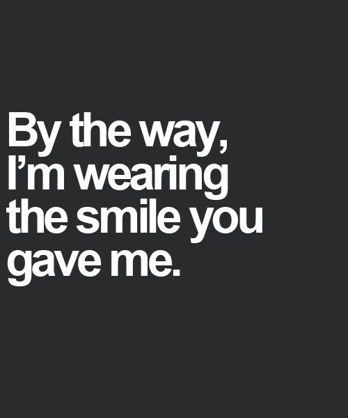 Wearing The Smile – Love Quote this is just the absolute cutest <3