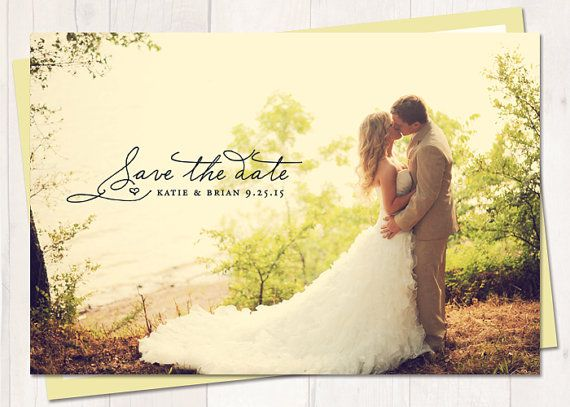 Save-The-Date - Vintage Wedding Save The Date Card or Magnet - Sunshine [like this design but you wouldn't put a pic of bride in wedding dress on save the date]