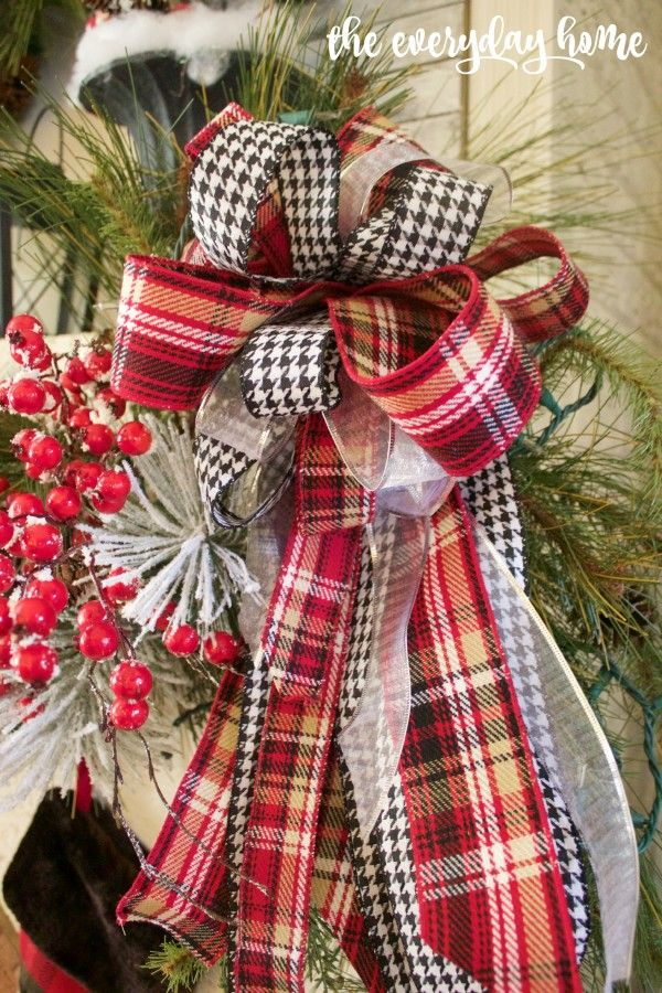 Tartan and Berry Christmas Mantel | The Everyday Home