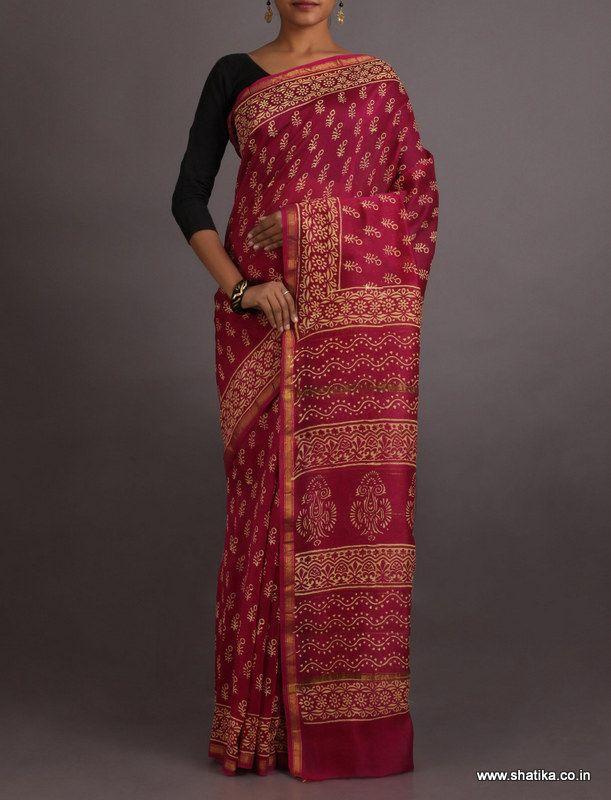 Sukanya Curvy Zari Exclusive #BaghHandPrintSaree