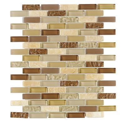 Jeffrey Court, Inc. Sunwashed Mini Brick 10 Inch x 12