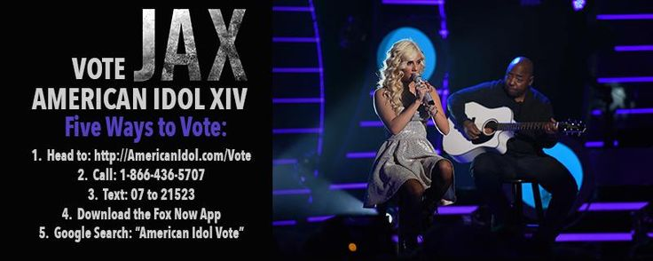 """Vote: http://americanidol.com/vote, text 07 to 21523, call 18664365707, search """"American Idol Vote"""" on google, all 20 times"""