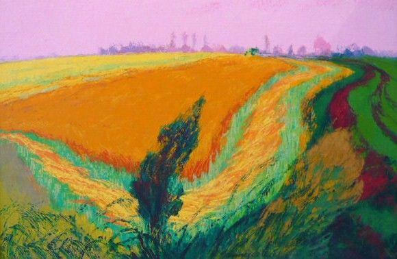Groninger Landschap, olieverfschilderij door Jannes de Vries