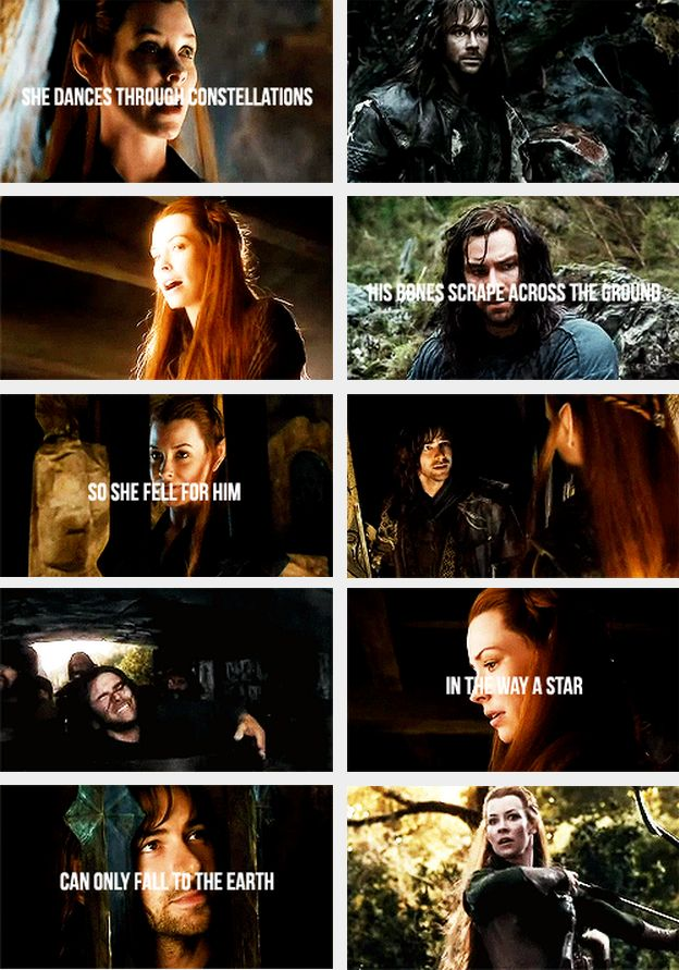 Tauriel and Kili ~ this poem is beautiful