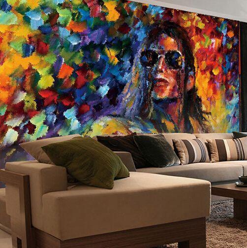 custom any size wall mural stereoscopic wallpaper michael jackson white horse murals