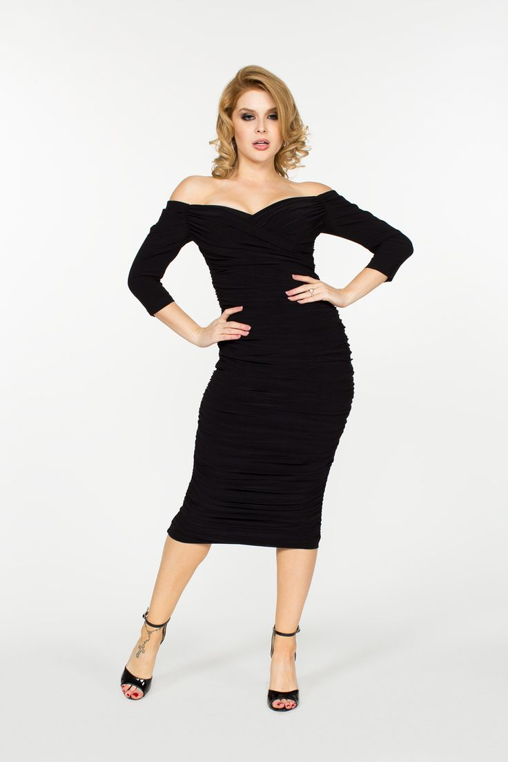 Laura Byrnes California Monica Vintage Style Dress in Black | Pinup Girl Clothing