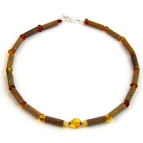 "Hazelaid (TM) Child Hazelwood-Amber Necklace - 13.5"" Honey review Effective in reducing acid-based ailments and symptoms, such acid-reflux, some forms of eczema, and teething pain. Must be placed directly on the skin and worn 24/7. Can be wrapped around the wrist or ankle if preferred. NOTE: Children under the age of three should not wear a necklace without..."