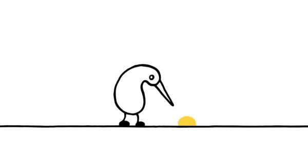 """Eigentlich heisst der Film """"Nuggets"""" und handelt von einem kleinen Kiwi, der beim herumlaufen eben ein goldenes Nugget findet, das ihn in ungeahnten Höhen schweben lässt. Beim nächsten Kick fliegt er dann nicht mehr ganz so hoch und immer weniger, bis der Film ziemlich... #drogen #video #wissen"""