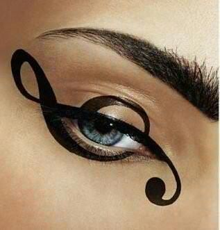 Crazy makeup idea . . . This is awesome