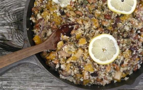 Pompoen Couscous6 Zogenaamde Couscous van Bloemkool met Pompoen en Cashewnoten {veganistisch en graanvrij}