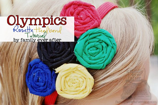 Olympics Rosette Headband Tutorial || family ever after for Skip To My Lou
