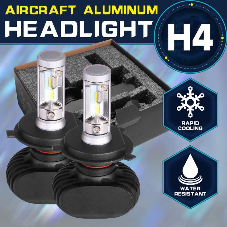 Oslamp Hi-Lo Beam H4 Led Bulbs for Car 6000K 2pcs LED Car Headlight 2WD 4WD Auto Led Head Light SUV 50W/Pair Fanless CREE Chips