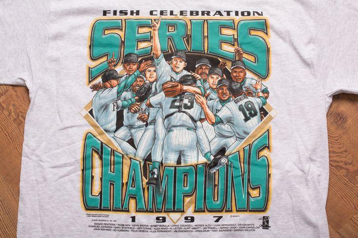 Vintage 90s Florida Marlins 1997 World Series Baseball Champions T-Shirt, MLB Champs Shirt
