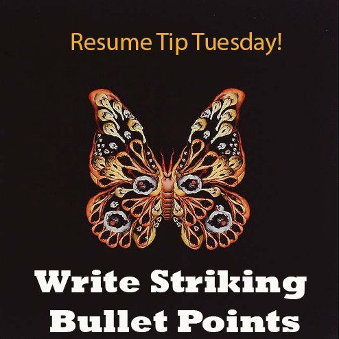 Resume Tip Tuesday: How to Create Striking Bullet Points