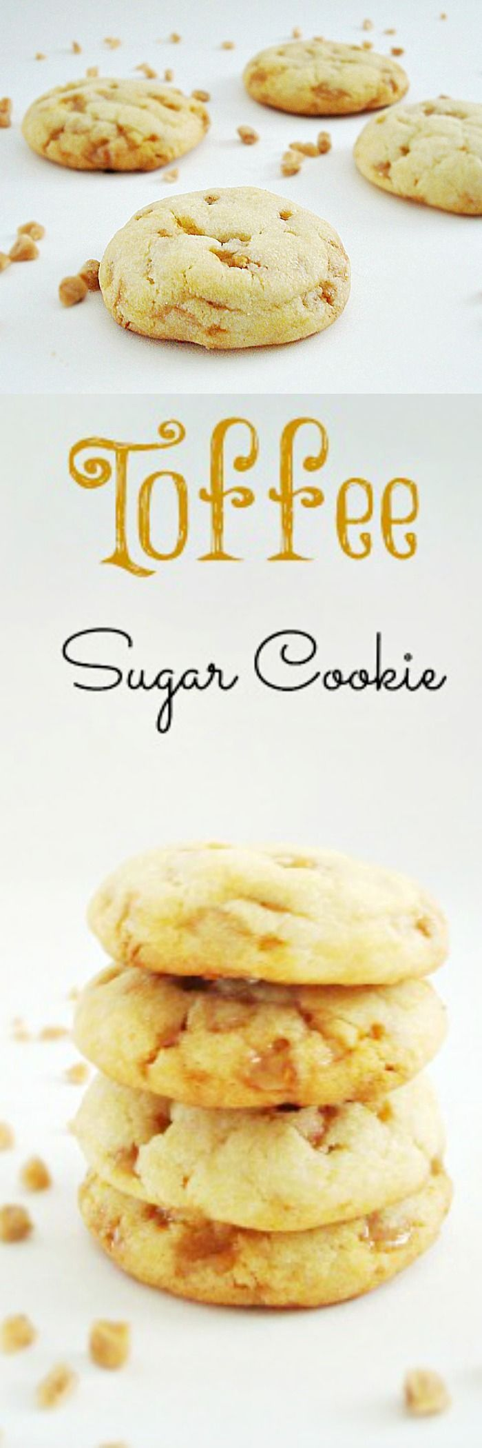 Homemade Toffee Bits Sugar Cookies