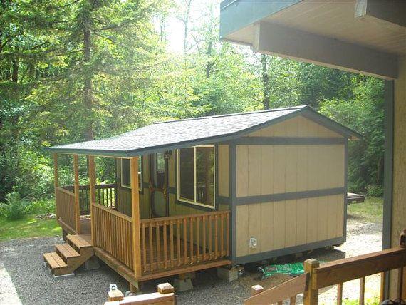 10x20 Portable Cabin With Porch By Backyardbuildingsllc On