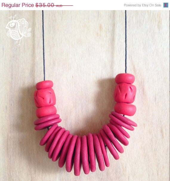 BOXING DAY SALE Handmade Polymer Clay Necklace - Grandmother - Carol by ThatWeDo on Etsy https://www.etsy.com/listing/216229441/boxing-day-sale-handmade-polymer-clay