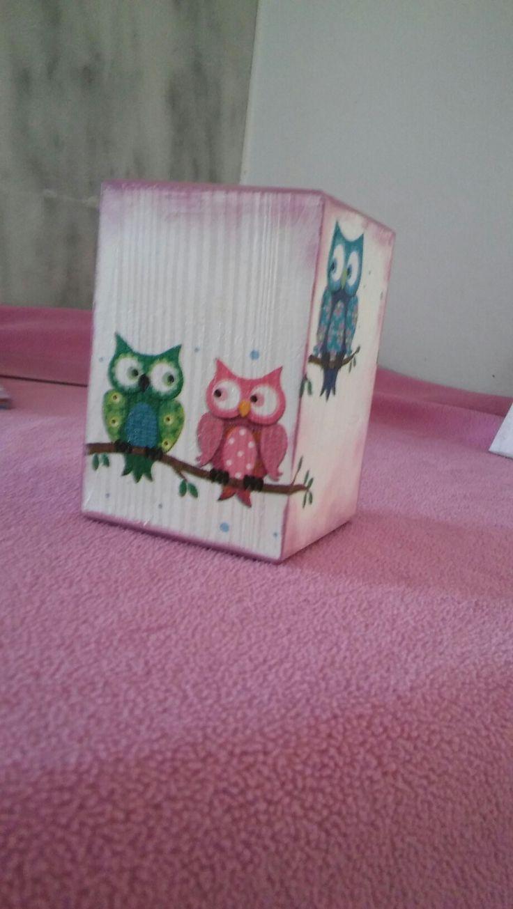 Decoupage - pencil case