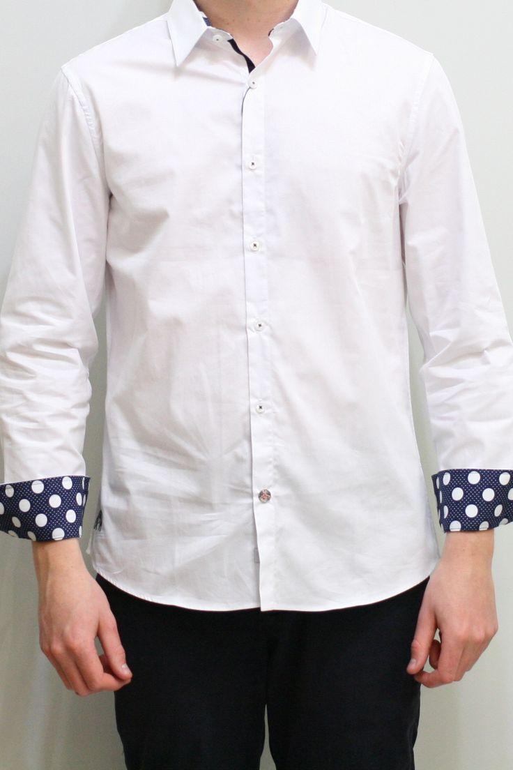 Dress Shirt - White/Polka Dot