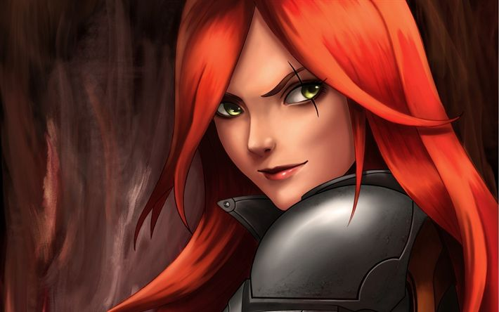 Download wallpapers Katarina, MOBA, female characters, League of Legends