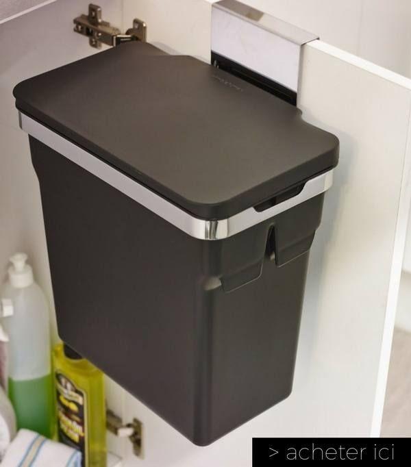 poubelle de porte de placard petite cuisine