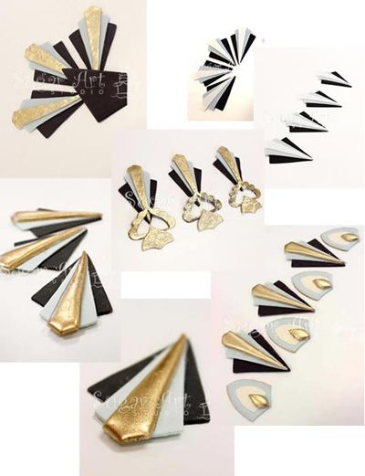 Art Deco gumpaste cutters from SugarArt Studio in Florida.
