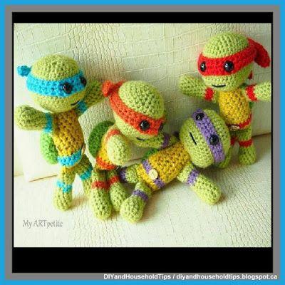 DIY And Household Tips: Teenage Mutant Ninja Turtles Crochet Stuffed Toys ...