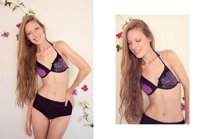 Bikini corpiño taza soft triángulo + culotte retro.