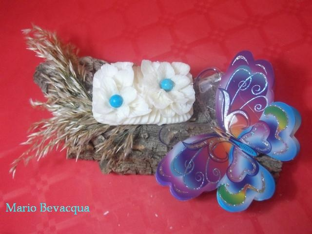 Butterfly soap carving