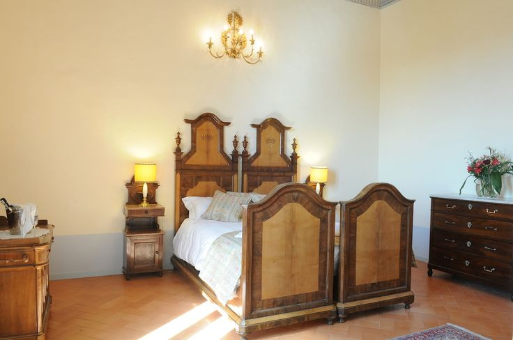 One of the Bedrooms in a 2 Bedroomed Luxury Apartment/Suite - Split level in Palazzo Morichelli d'Altemps, San Ginesio, Macerata, Le Marche, Italy