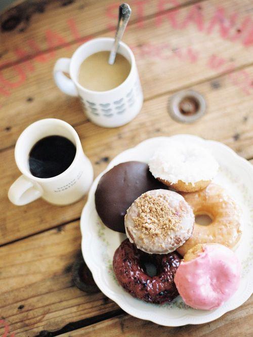 Good morning fashionistas! #coffee #donuts #goodmorning