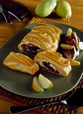 Strudel di scamorza affumicata e radicchio - Puff pastry with scamorza cheese and radicchio