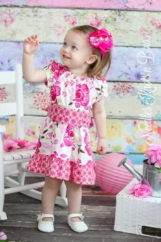 9a85456bd Girls Pink Floral Easter Dress