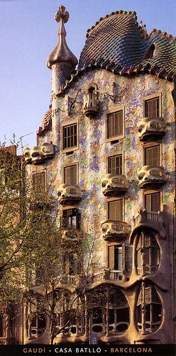 Casa Batlló. Barcelona Spain. Antoni Gaudi. 1904-06. A must visit place to appreciate Gaudi's vision and creativity!