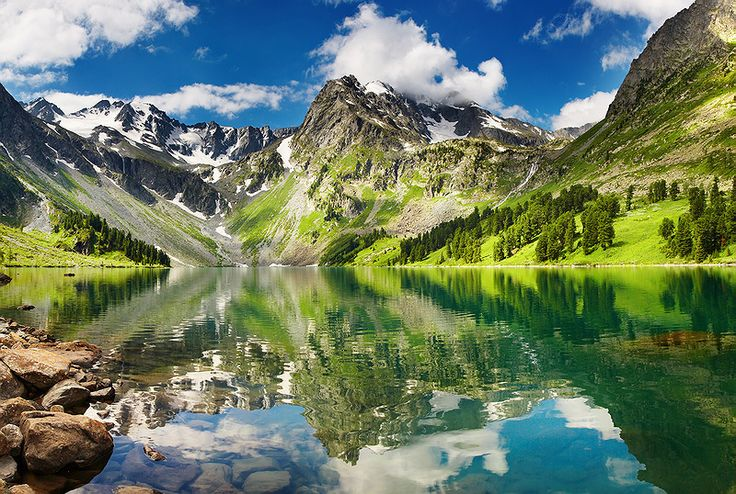 Beautiful lake in Altai mountains by Dmitry Pichugin