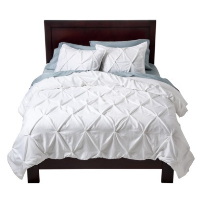 Target Home™ Pinched Pleat Comforter Set - White.Opens in a new window