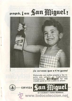 Página Publicidad Original *Cerveza SAN MIGUEL* - Agencia Publicidad ALAS  -  Año 1962