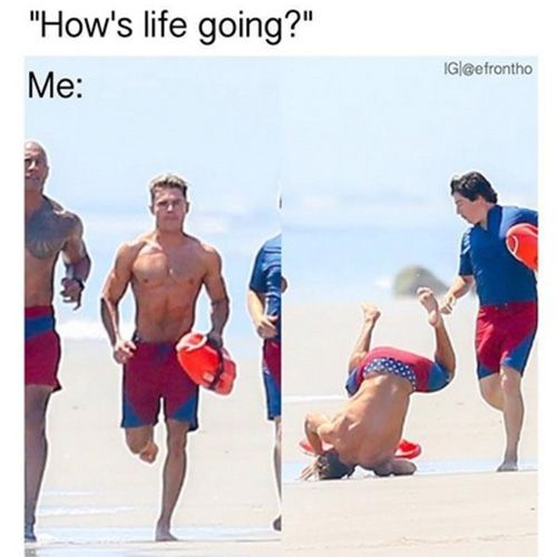 zac efron may seem cool AF, but he fails, too! crying at these memes...