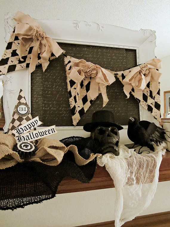 halloween decor halloween banner vintage by kathyjacobson on etsy - Etsy Halloween Decorations