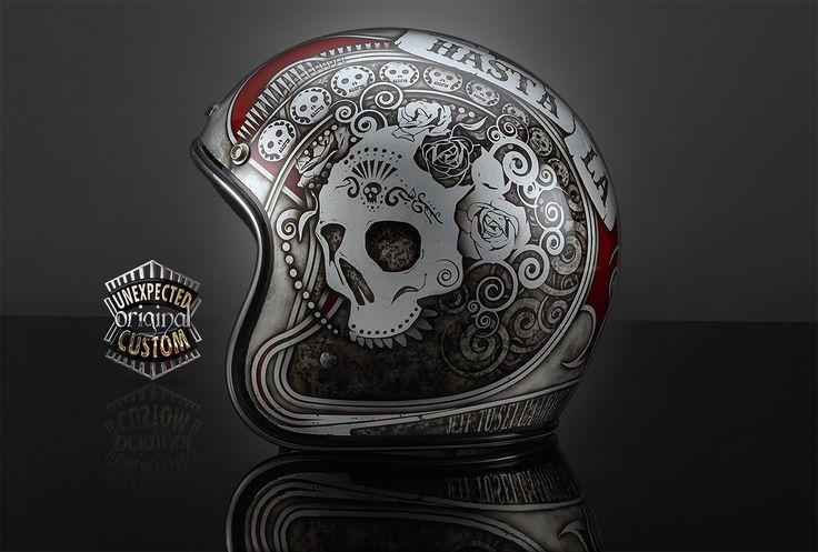 Custom motorcycle helmetHASTA LA MUERTE 2, BiltwellBonanza - UNEXPECTED CUSTOM