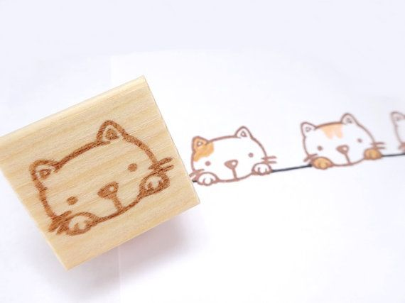 Hey, I found this really awesome Etsy listing at https://www.etsy.com/listing/192103006/cute-little-cat-stamp-rubber-stamp-cat