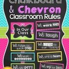 Classroom Rules {Chalkboard and Chevron}  Display your classroom rules with this stylish chevron themed poster set. This display was made with a po...