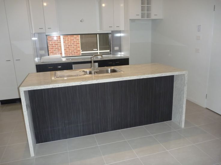 Waterfall Edges On The Countertop Kitchen Benches