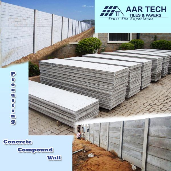 Precasting Concrete Compound Wall Is A Concrete Boundary Wall It Is Used To Cover The Boundary Area Of The Land Aar T Compound Wall Precast Concrete Concrete