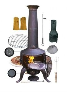 Cook using your chimenea  A collection of recipes to inspire your next barbecue.  Easy and a little different, mix up the hotdog routine with these outdoor dining ideas  #BBQ #barbecue #ideas #recipes #simple #outdoor #cooking #inspiration #party #food #dining